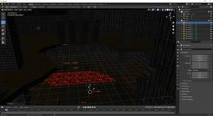 Quake map in Blender